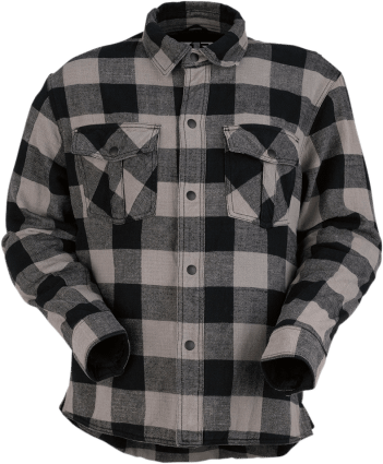 flannel with concealed pockets