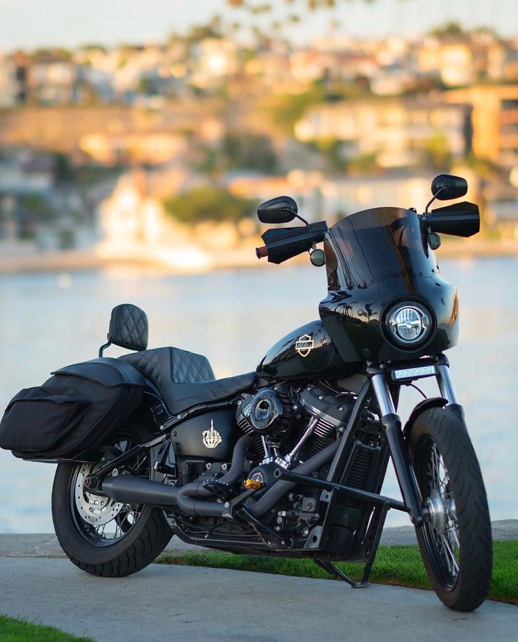 Leather Pros Retro Series V3 Saddlebags For 2018 Softail Imzz Elite